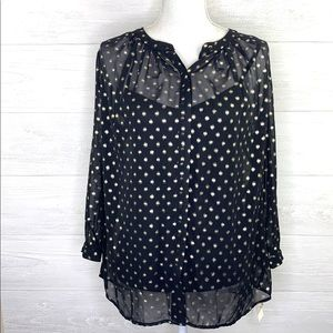 Liz Claiborne | NWT Sheer Blouse with Tank Top